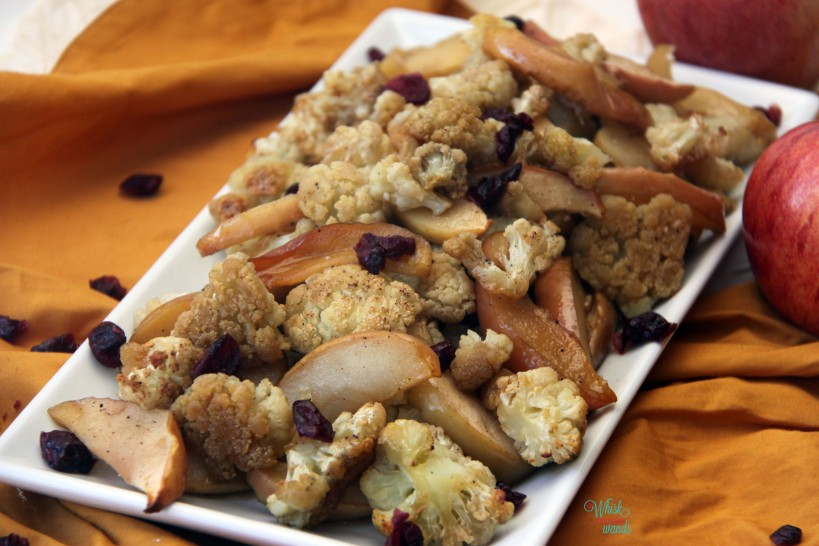 Baked Maple Cauliflower and Apples