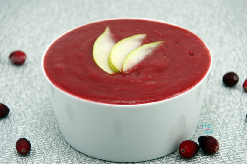 Pear Cranberry Sauce (blended smooth)