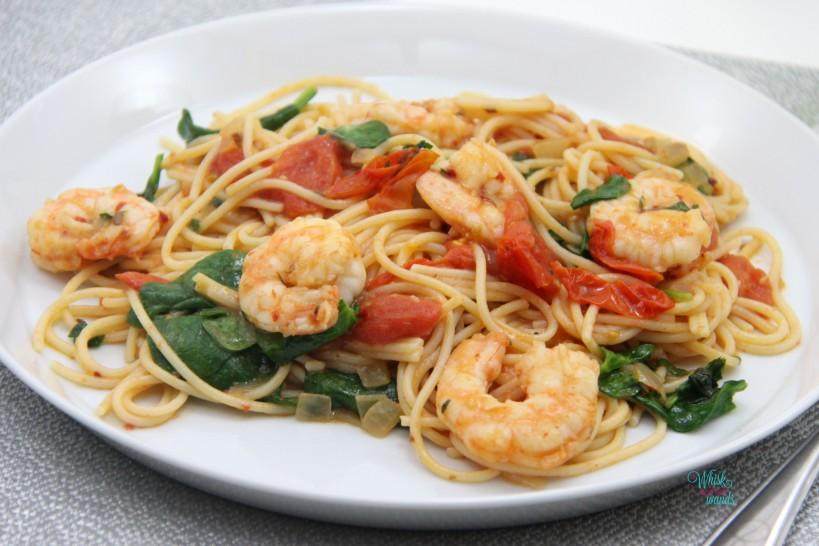 Fresh Spicy Shrimp Pasta