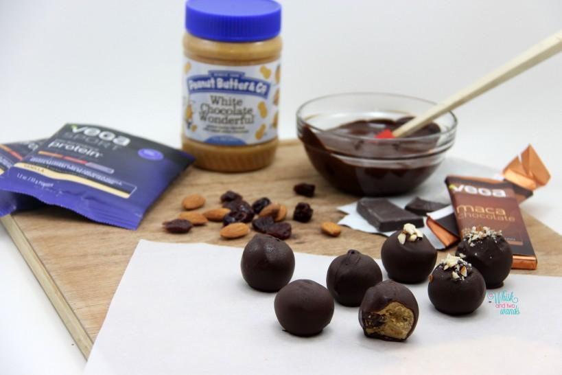 White Chocolate Cherry Protein Truffle Balls