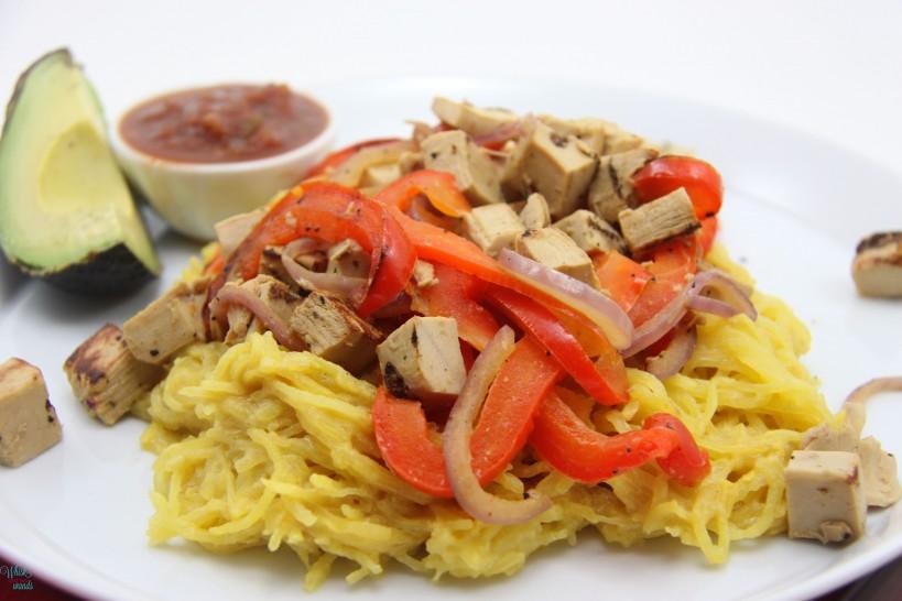 "Southwest ""Cheesy"" Spaghetti Squash"