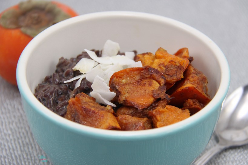 Roasted Persimmon and Coconut Sticky Rice