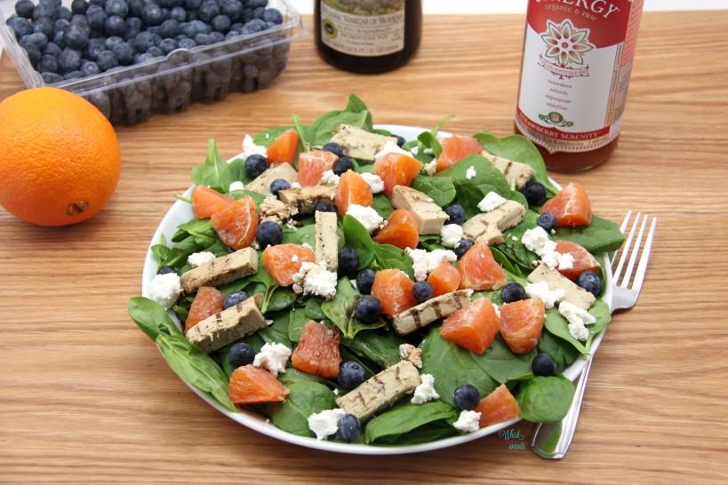 Chicken Blueberry Orange Spinach Salad