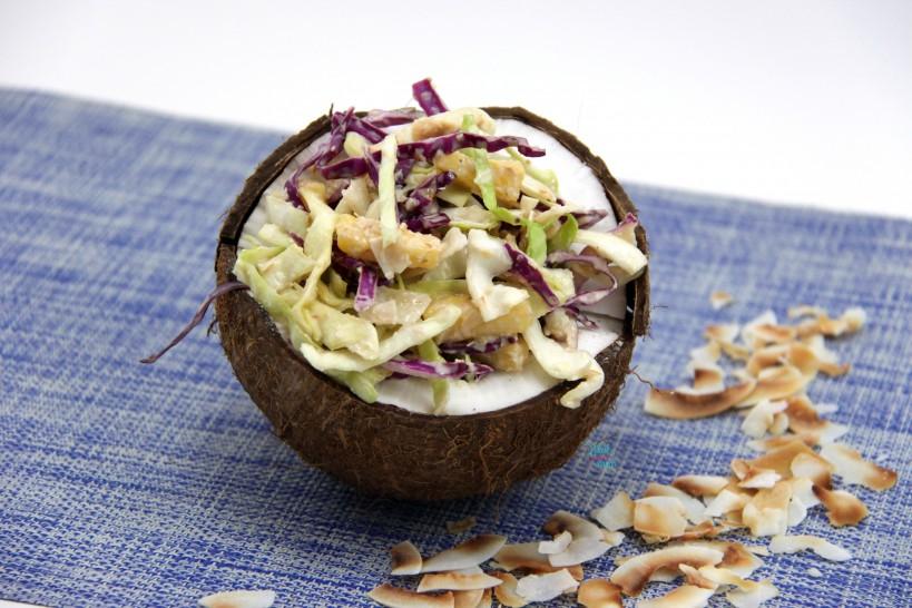 Pineapple Coconut Coleslaw
