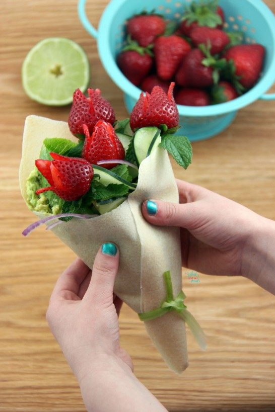 Cucumber Strawberry Bouquet Wrap
