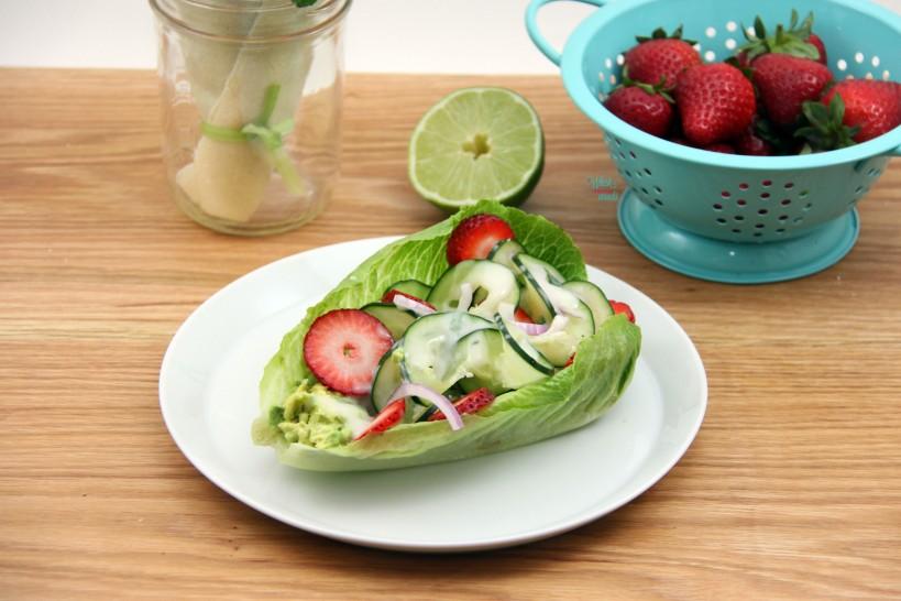 Cucumber Strawberry Wrap