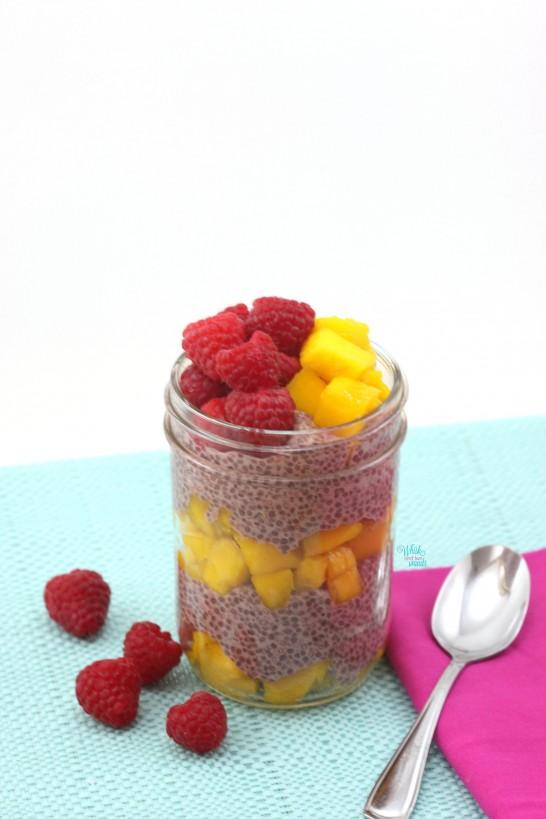 Raspberry Mango Chia Bowl