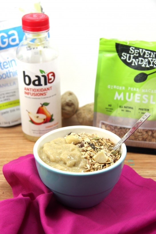 Ginger Pear Smoothie Bowl