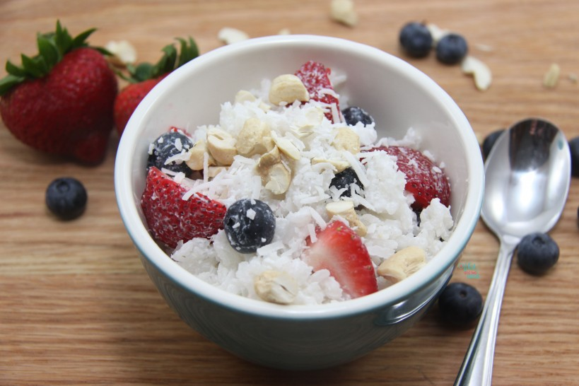 Red, White, and Blue Berry Rice Bowls