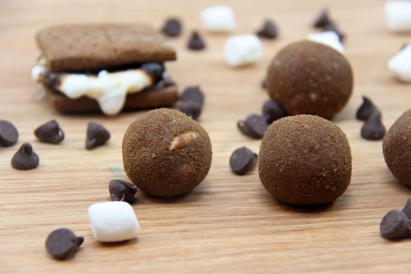 S'more Power Balls (chocolate protein, chocolate peanut butter version)