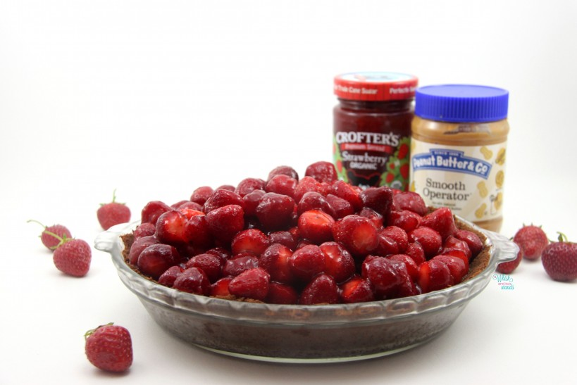 PB&J Strawberry Peanut Butter Mousse Pie