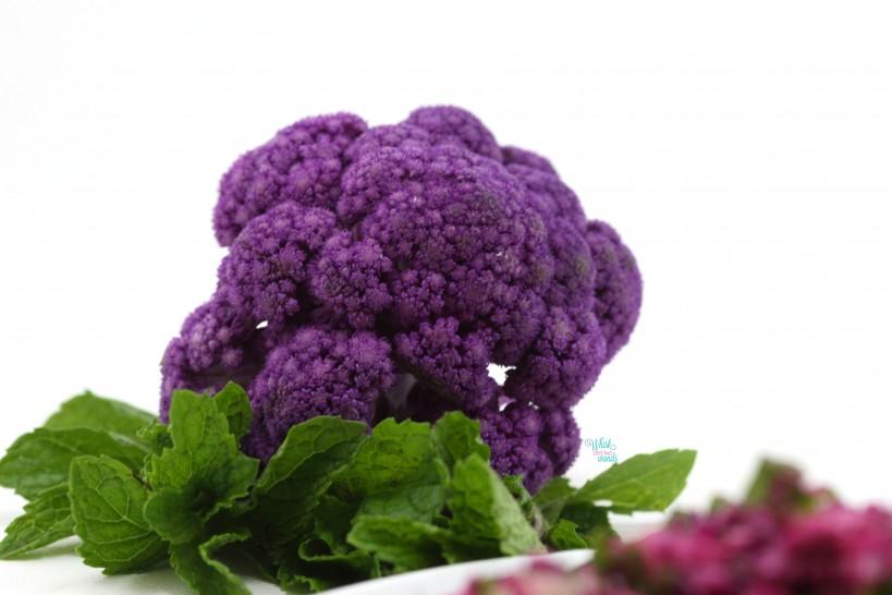 Beautiful purple cauliflower!