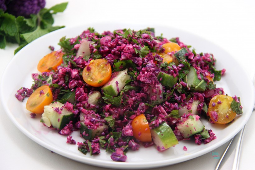 Add a pop of color to your plate with this Colorful Cauliflower Tabbouleh!