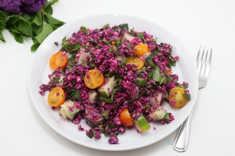 Colorful Cauliflower Tabbouleh