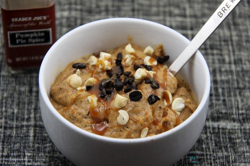 Nutty Pumpkin Spice Latte Smoothie Bowl