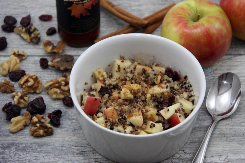 Apple Cranberry Pecan Quinoa Breakfast Bowl
