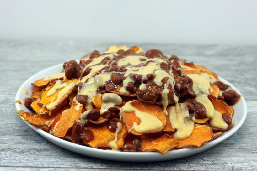 Loaded Chili Cheese Sweet Potato Chips