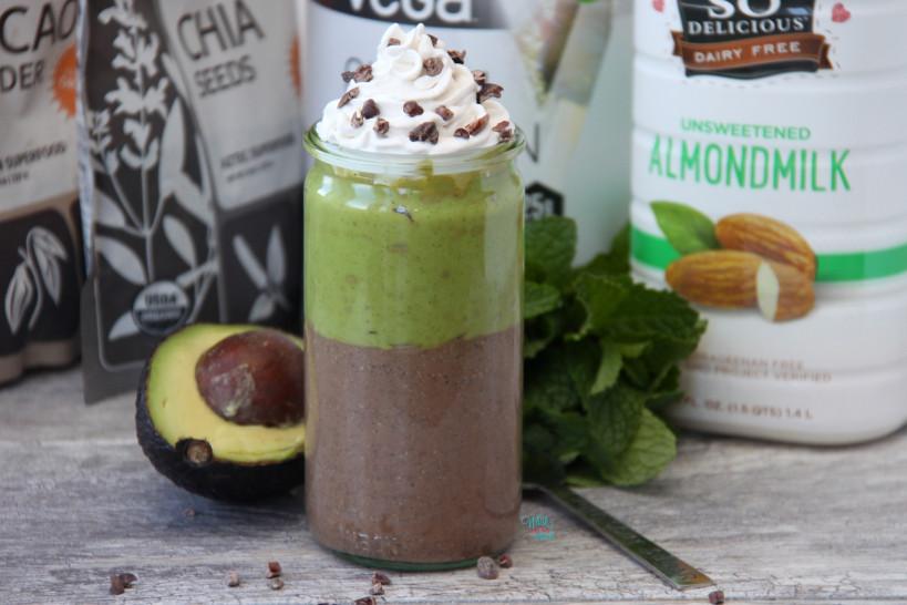 Chocolate Mint Protein Pots de Crème (vegan, gluten free)