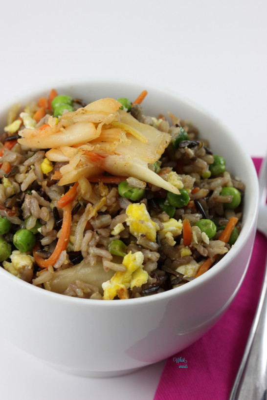 Kimichi Fried Wild Rice (with eggs)