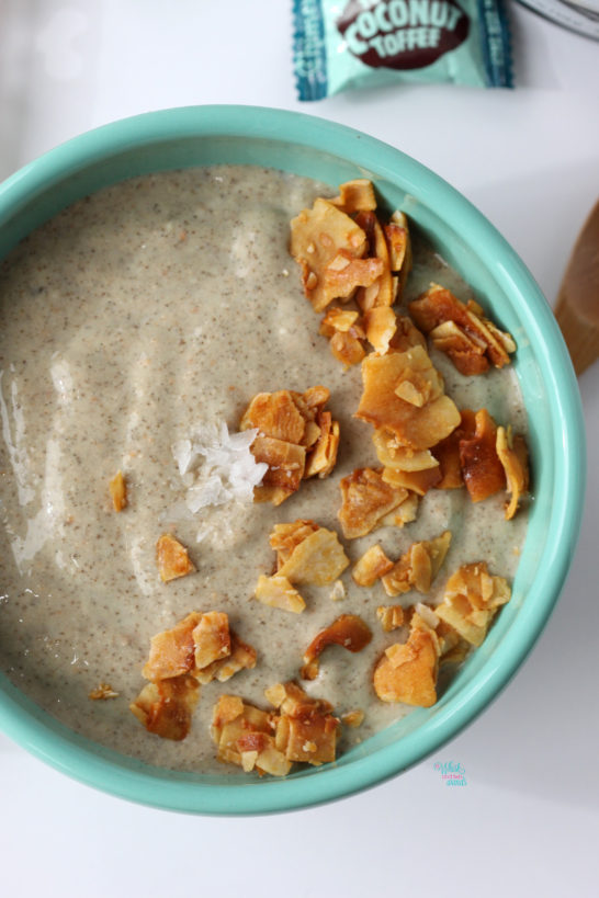 Salted Toasted Coconut Smoothie Bowl (vegan, gluten free)