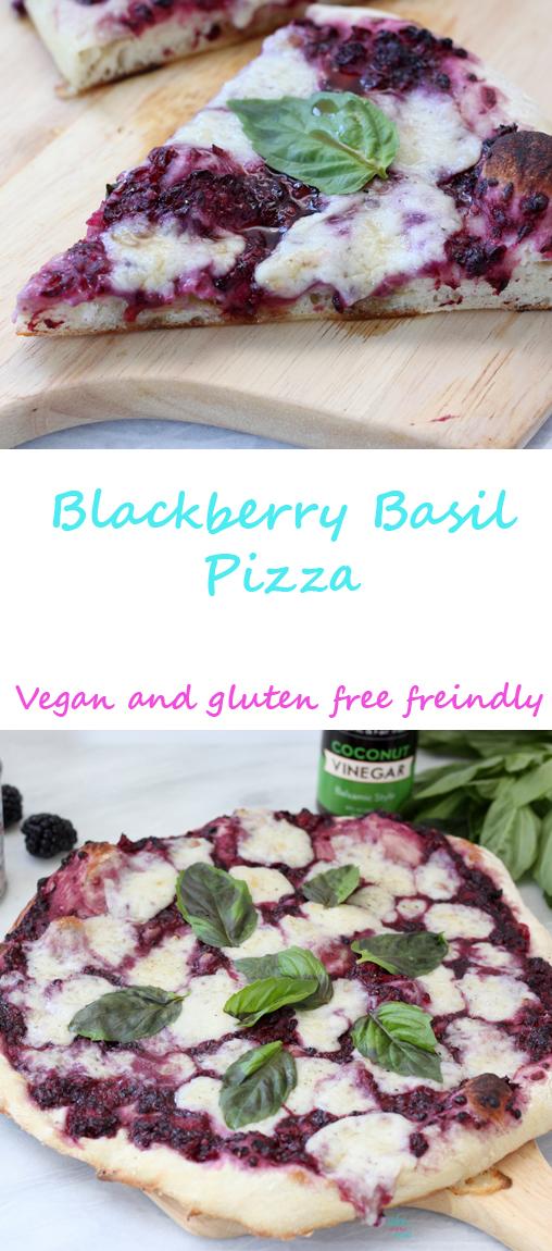 Blackberry Basil Pizza (vegan and gluten free friendly)