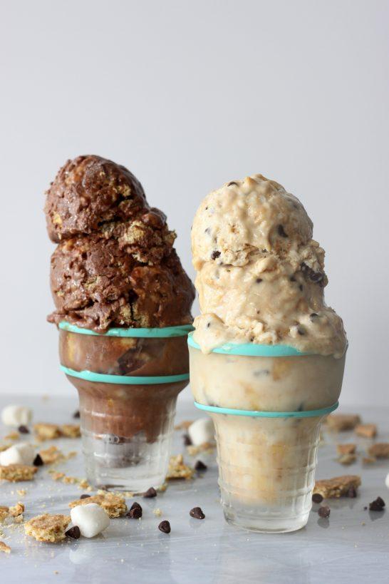 S'more Ice Cream Quick and easy vegan, gluten free, S'more Ice Creams, no ice cream machine required!