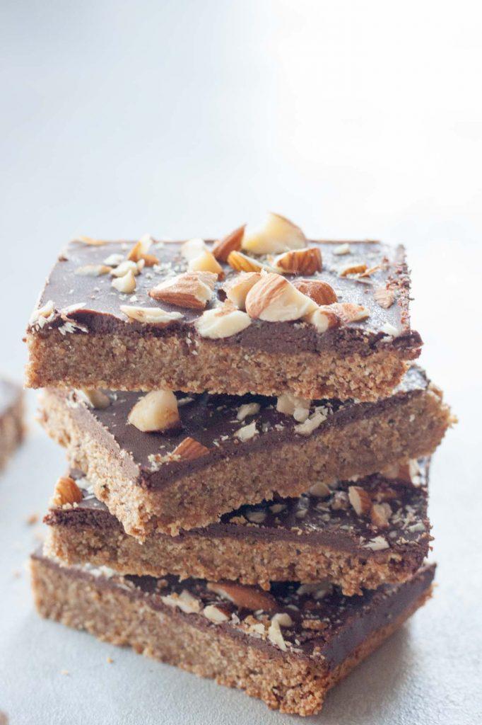 Chocolate Almond Cookie Bars (gluten free, vegan)