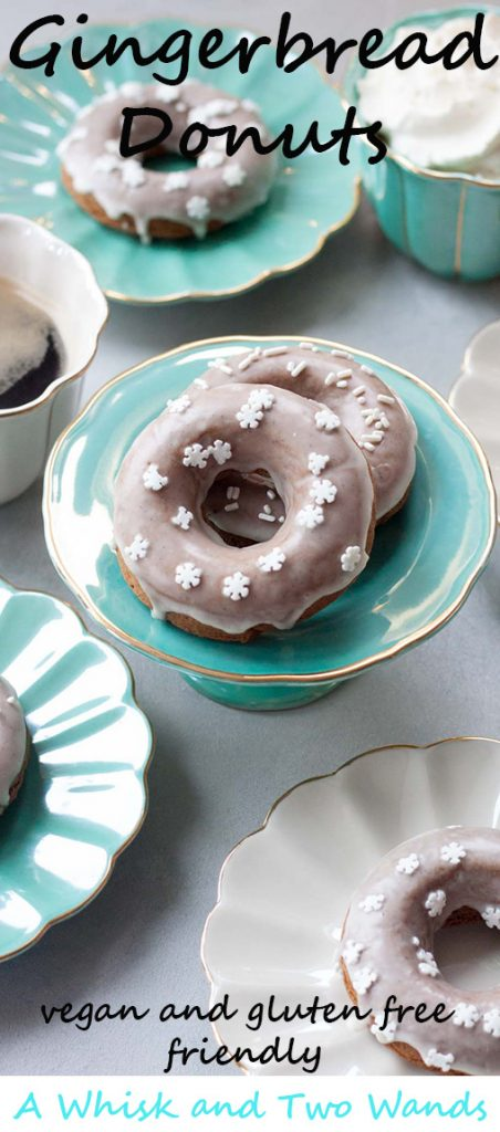 Delicious and healthy baked Gingerbread Donuts your family will love! Vegan and gluten free friendly these donuts can also be made with probiotics.