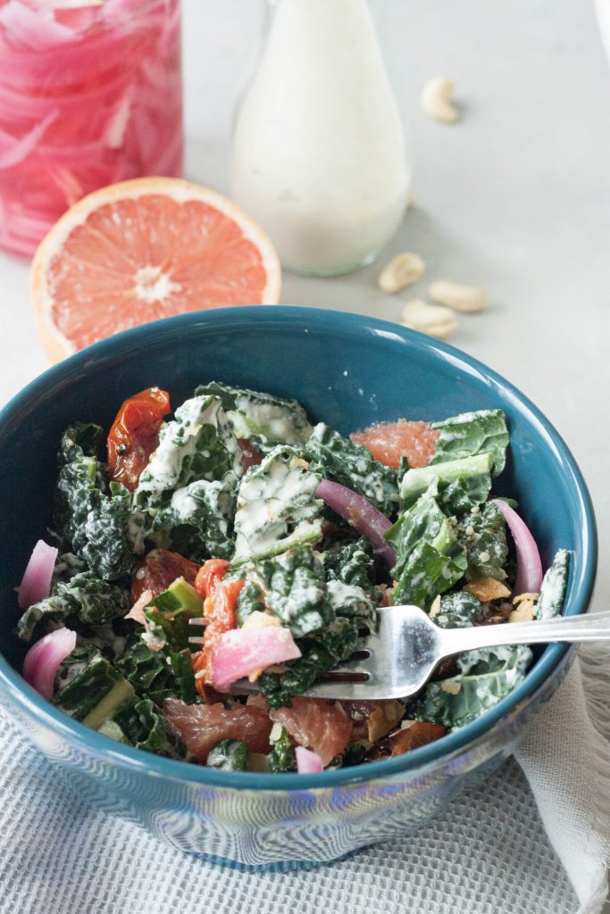 A Whisk and Two Wands, Creamy Kale Salad