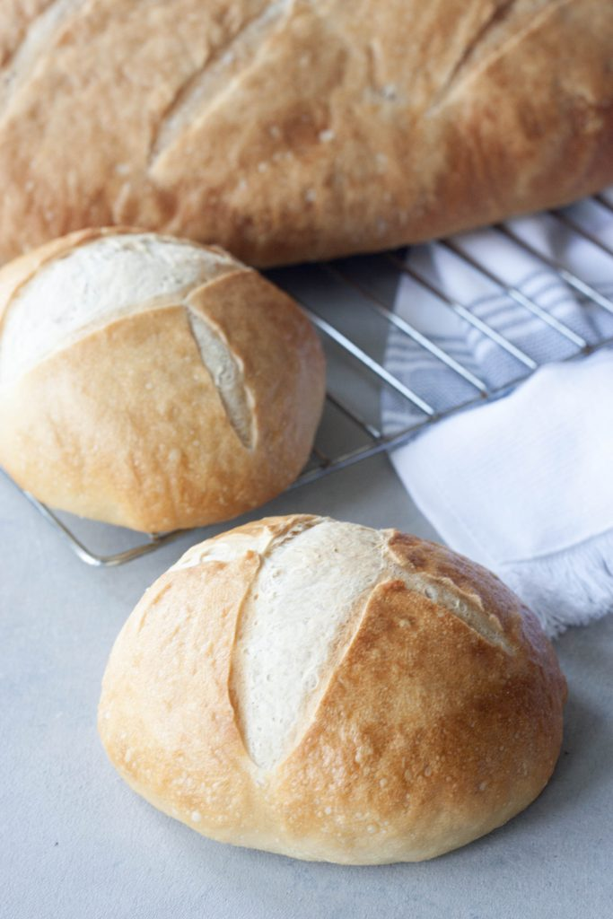 A Whisk and Two Wands Homemade Mini Sourdough Boules