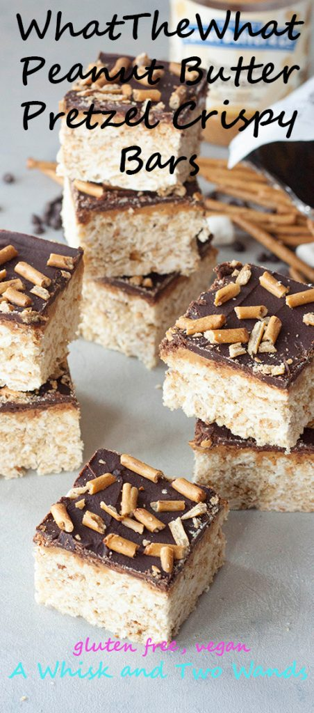 A Whisk and Two Wands, WhatTheWhat Peanut Butter Pretzel Crispy Bars