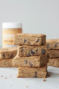 A Whisk and Two Wands Grain Free Peanut Butter Chocolate Chip Blondies, vegan