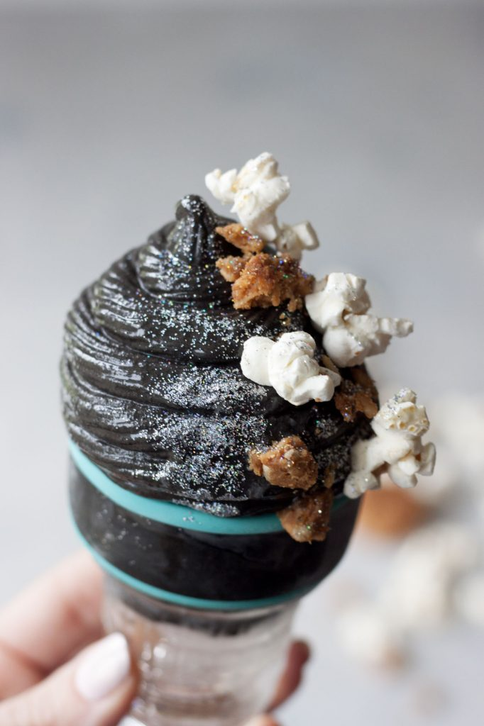 Black Cacao Nice Cream, A Whisk and Two Wands