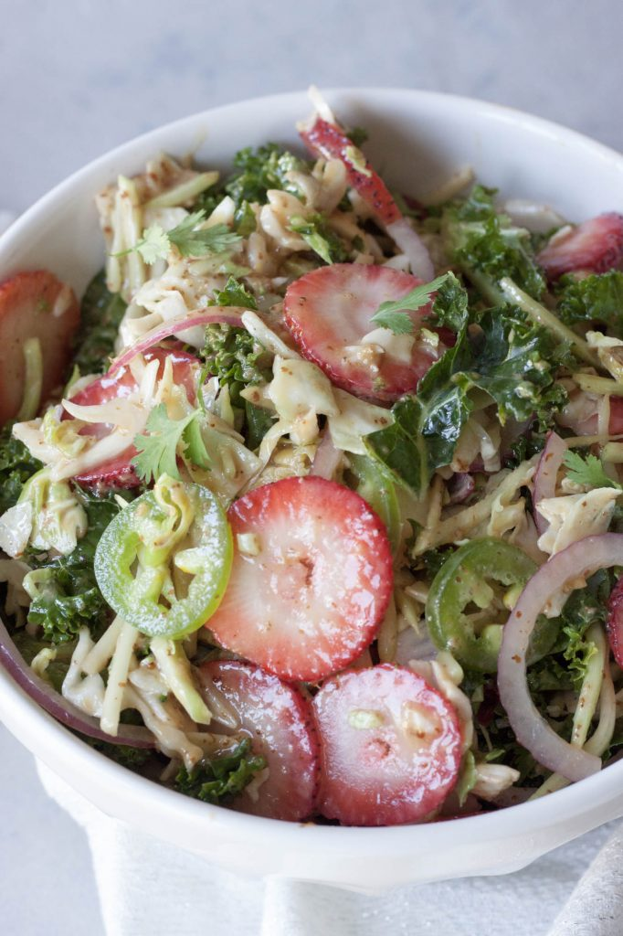 Sweet and Spicy Strawberry Super Slaw, A Whisk and Two Wands