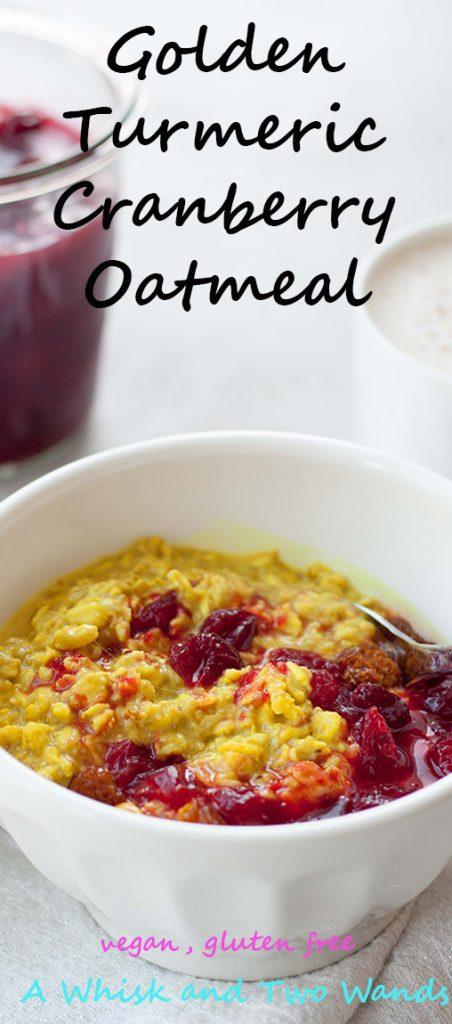 Golden Turmeric Cranberry Oatmeal