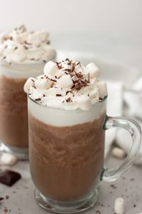 Have a little fun with Frozen Hot Cocoa, even if it's freezing outside! A simple healthy treat this is sure to be year round favorite. Gluten free, dairy free, vegan friendly with optional health boost add-ins.