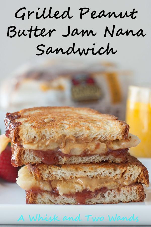 Gluten Free Grilled Peanut Butter Jam Nana Sandwich