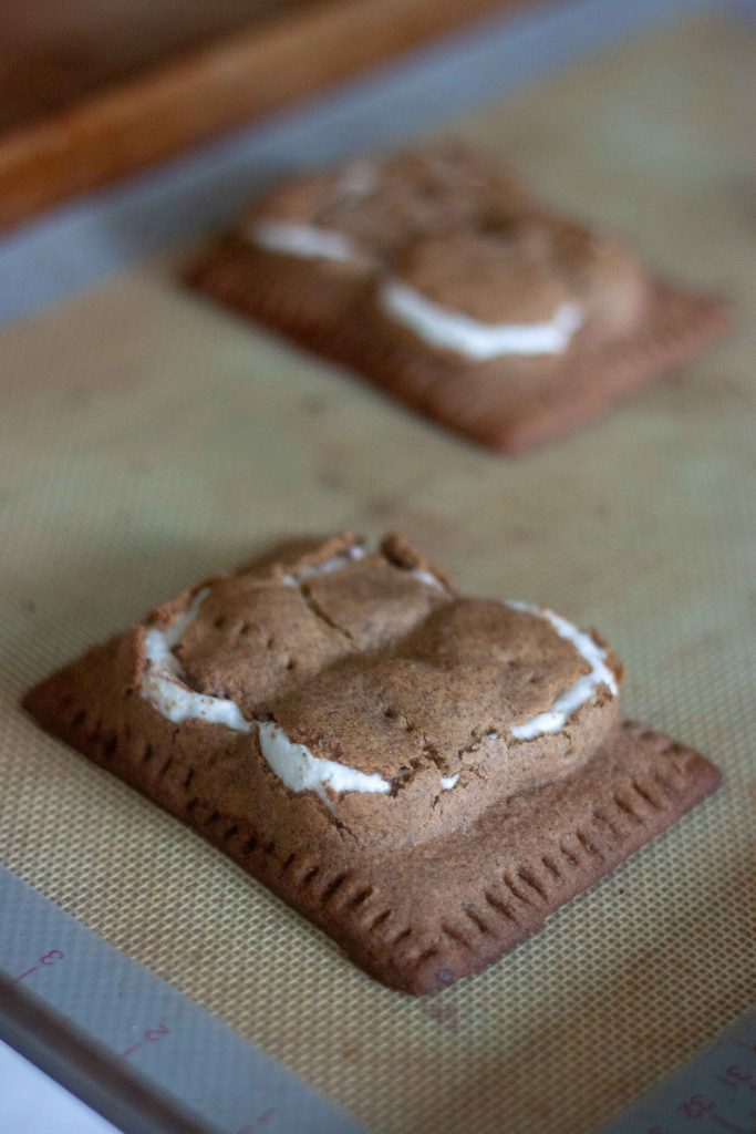 Gluten Free Vegan S'mores Pop Tarts straight out of the oven
