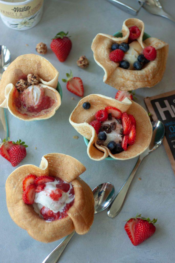 Berry OddParents Pancake Sundae Bowls
