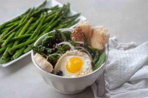 Pickled Blueberry Breakfast Salad