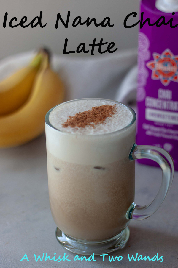 Creamy delicious blend of dairy free milk and banana topped with chai tea concentrate resulting in one comforting and refreshing Iced Nana Chai Latte. Customizable with many options such as collagen, superfoods and/or adaptagens.