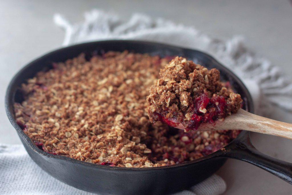 Cast Iron Cranberry Crisp