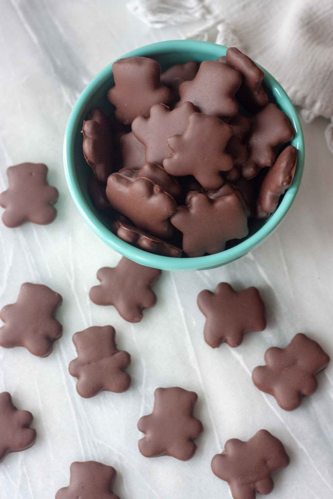 Chocolate Covered Gingerbread Bear Cookies