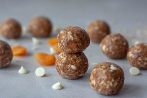 White Chocolate Apricot Oatmeal Lactation Energy Bites