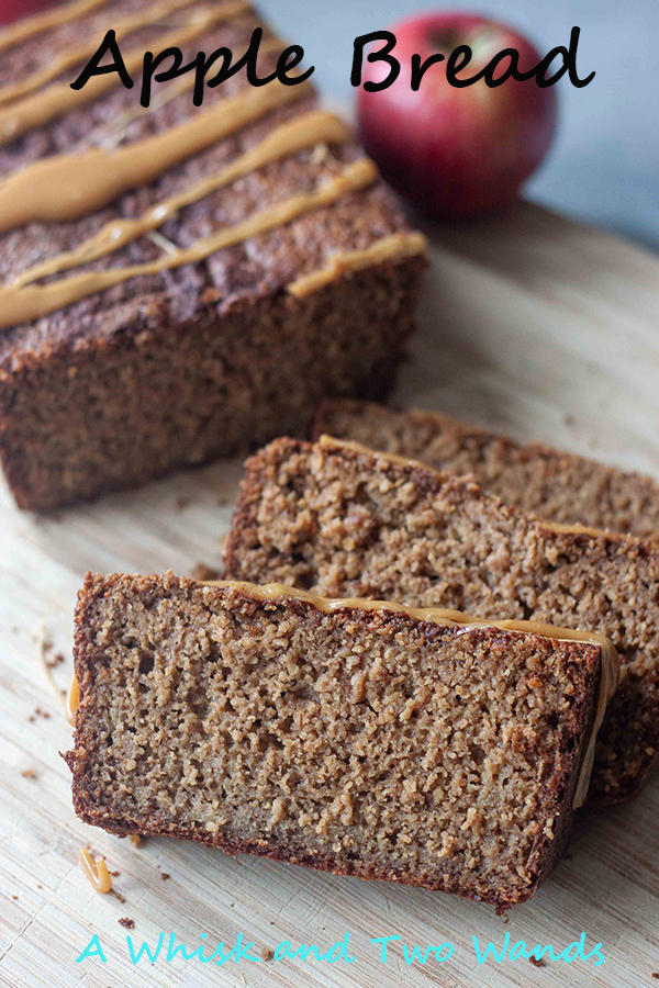 Sugar, spice, and everything nice! All the fall feels wrapped into this delicious loaf of healthy Apple Bread! Imagine the cozy feelings you get from eating a slice of grandma's banana bread only swap the banana for apple and add a little spice! Gluten free and optional additions like caramel drizzle and nutritional boosts.