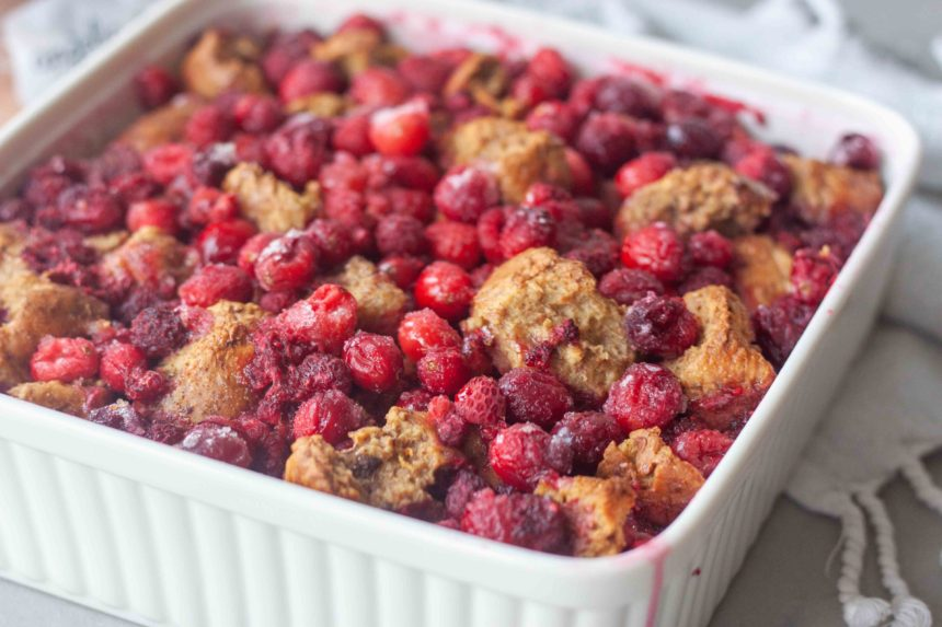 pan of Cran-Berry French Toast Bake