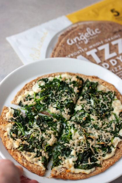 Spinach Garlic Flatzza Pizza