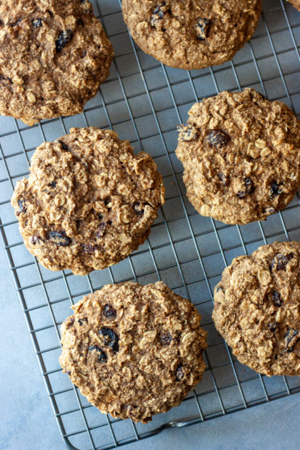 Tray of Oatmeal Raisin Breakfast Cookies