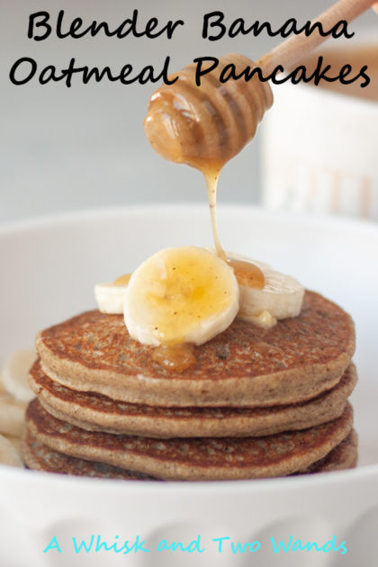 Blender Banana Oatmeal Pancakes are simple and delicious pancakes that will fill you up and fuel your day! Gluten free and vegan friendly this is a flexible recipe that uses simple ingredients.