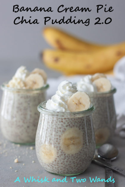 It only takes a few ingredients and minimal time this healthy and delicious Banana Cream Pie Chia Pudding that can be enjoyed for breakfast, snack, or dessert! Vegan, gluten free, paleo.